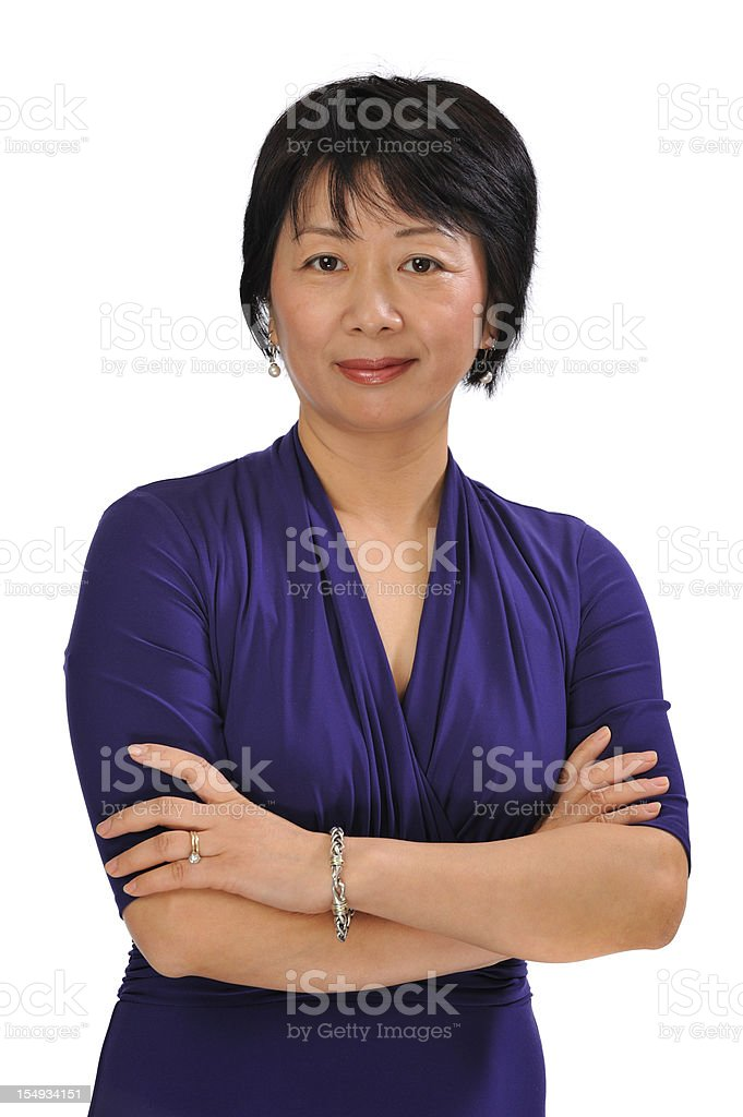 Successful Chinese businesswoman royalty-free stock photo