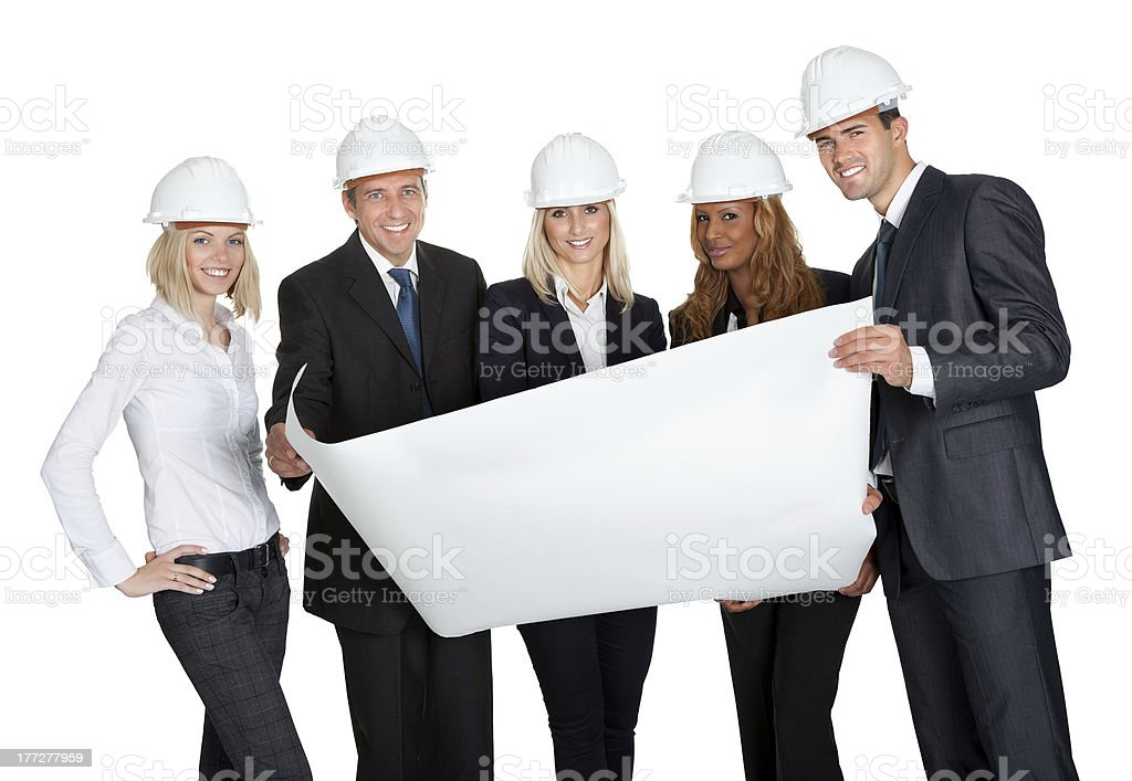 Successful construction workers royalty-free stock photo