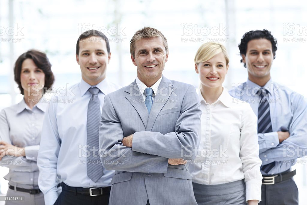Successful corporate companions royalty-free stock photo