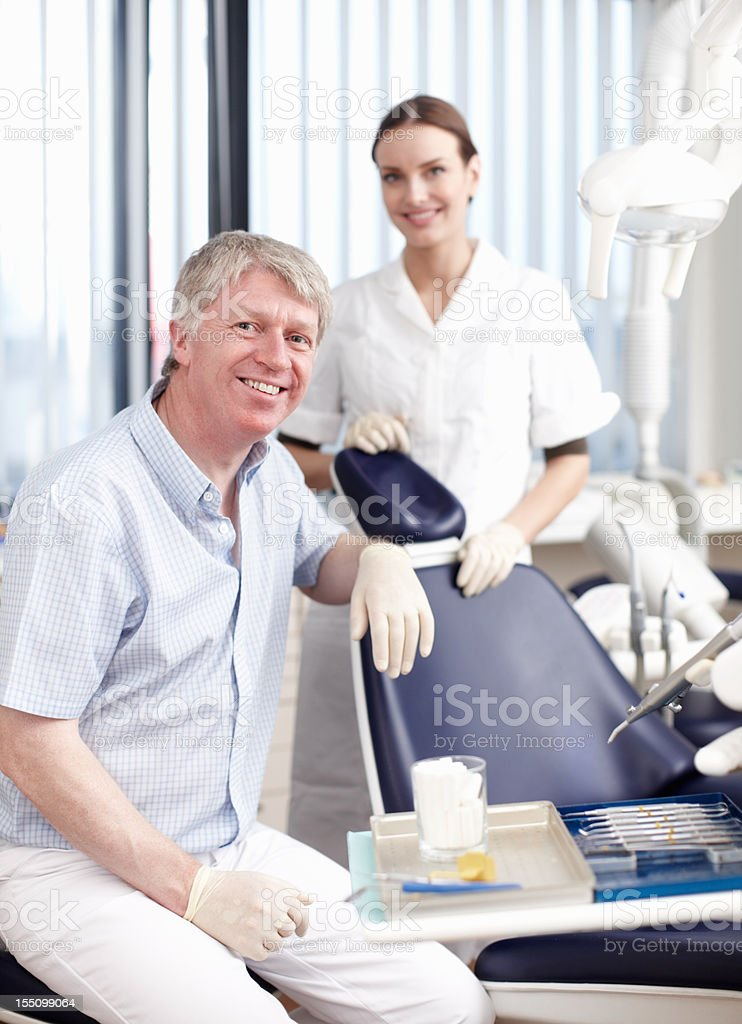 Successful dental team royalty-free stock photo