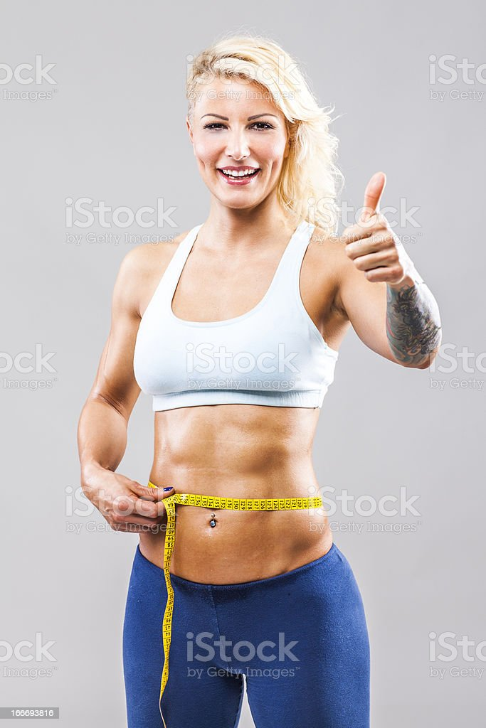 Successful diet royalty-free stock photo