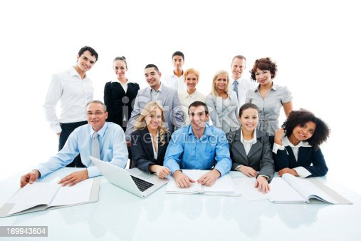 669854210 istock photo Successful diversity people on a meeting. 169943604