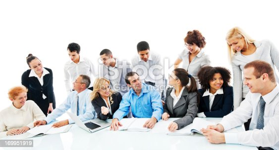669854210 istock photo Successful diversity people on a meeting. 169951919