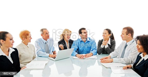 669854210 istock photo Successful diversity people on a meeting. 185242381