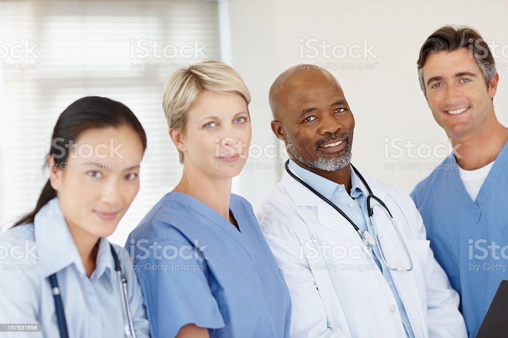 Successful doctors standing together royalty-free stock photo