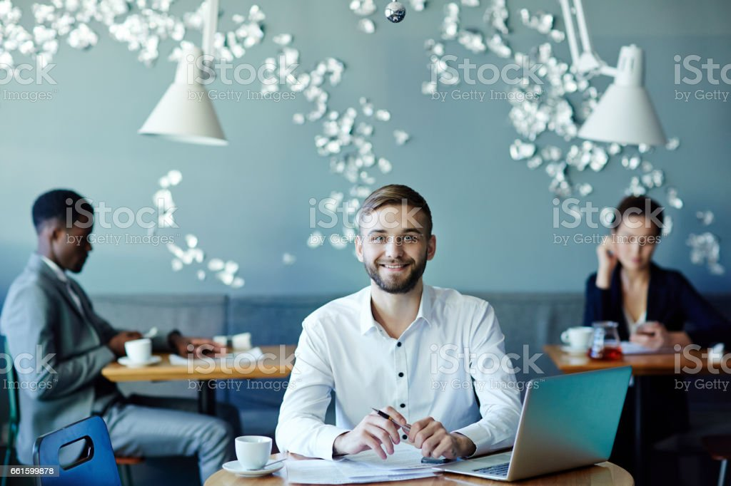 Successful employee stock photo