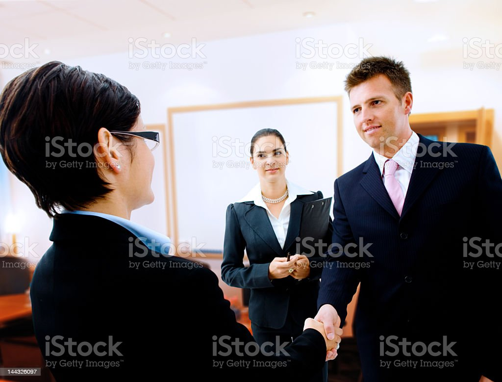 Successful ending of a business meeting with a handshake royalty-free stock photo