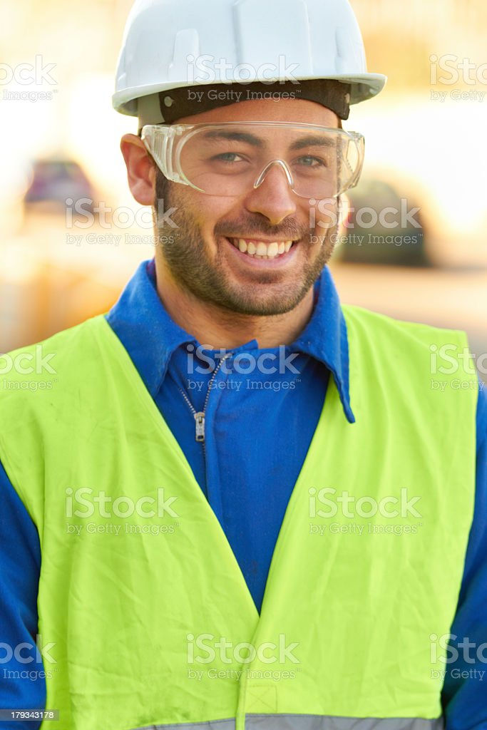 Successful engineer royalty-free stock photo