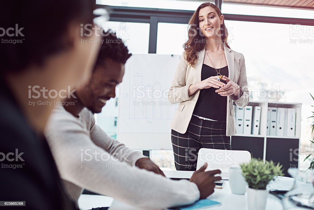 Successful entrepreneurs are comfortable relating to other people... stock photo