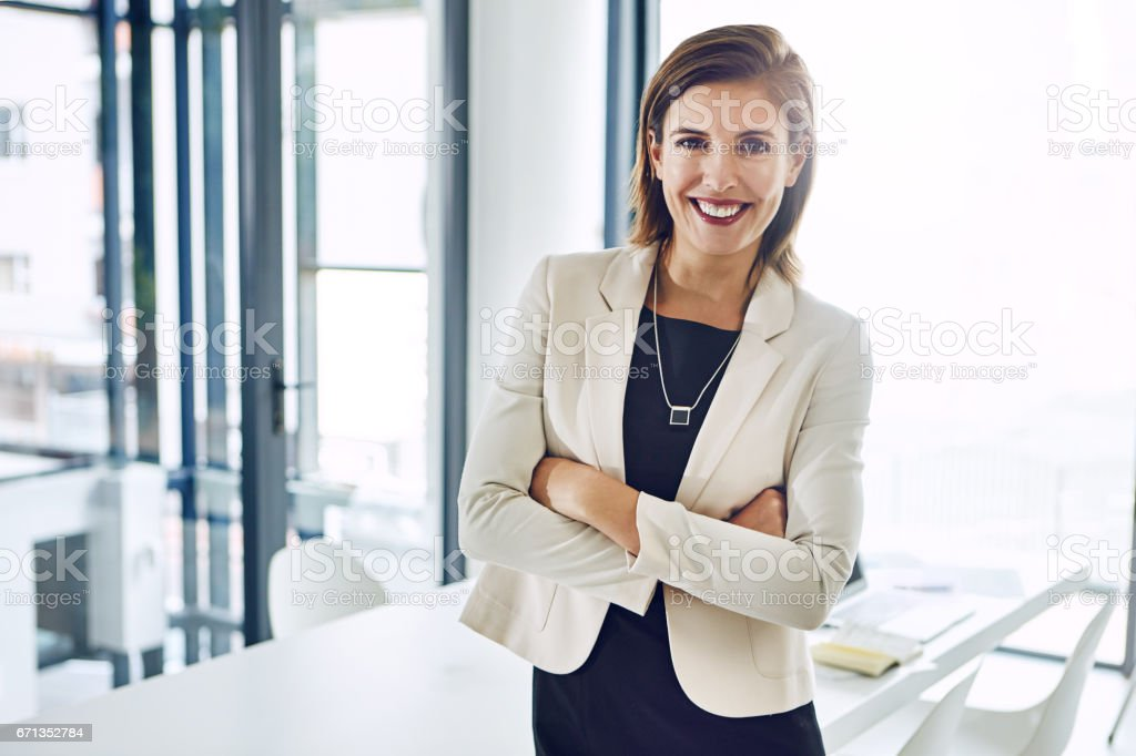 Successful entrepreneurs naturally have a keen intuition stock photo