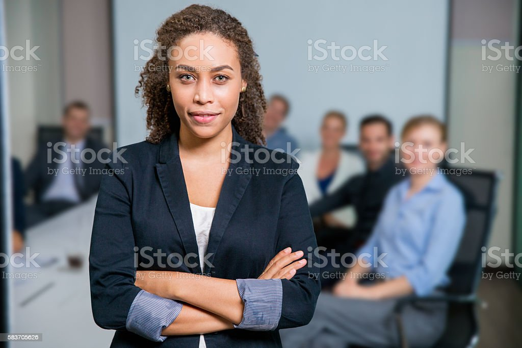 Successful Female Executive Manager stock photo
