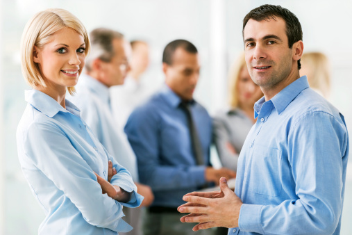 514325215 istock photo Successful group of businesspeople talking 174834613