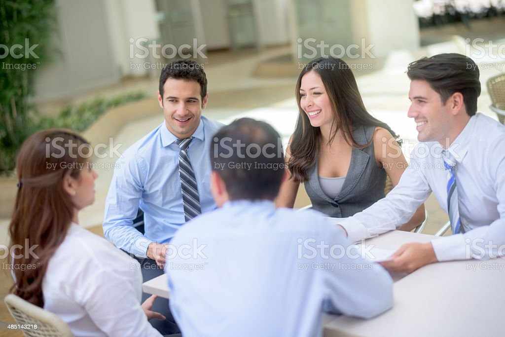 Successful group of people in a business meeting Lizenzfreies stock-foto