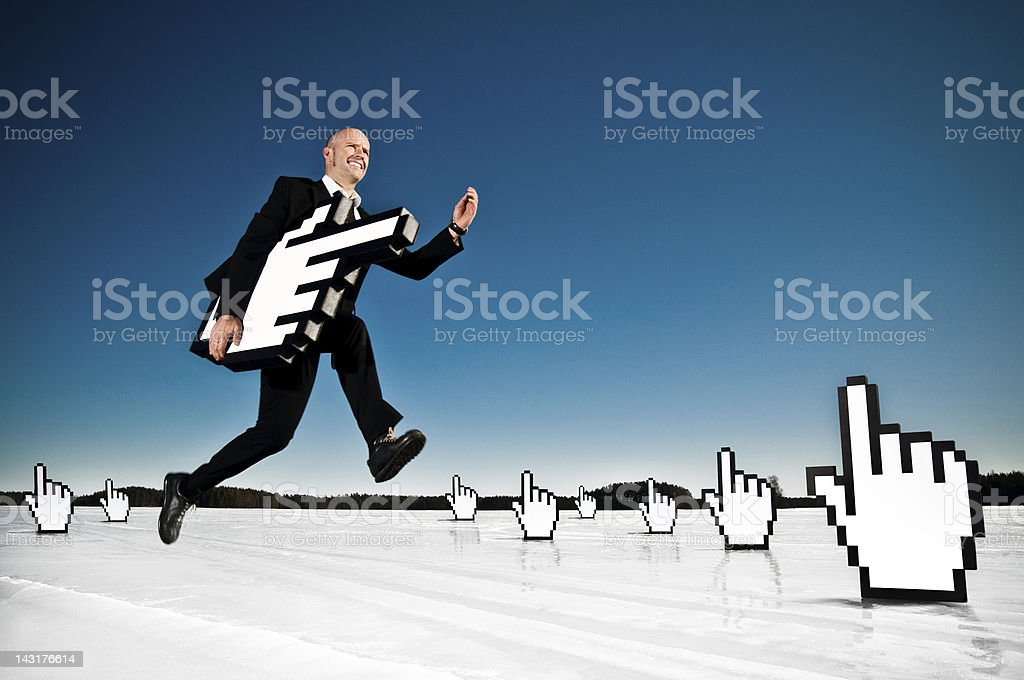 Successful internet business stock photo