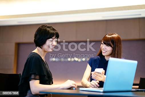 589445574istockphoto Successful Japanese female managers deciding on investment proposals. 588367868