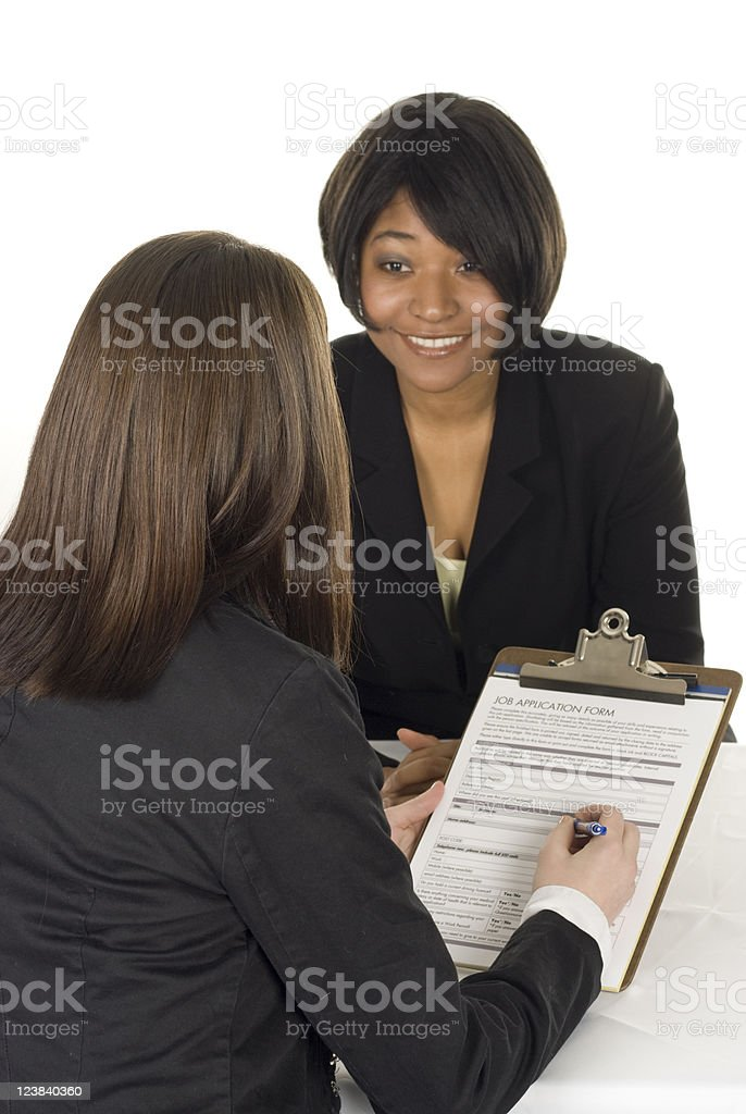 Successful Job Interview royalty-free stock photo