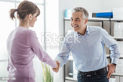 istock Successful job interview 904657466