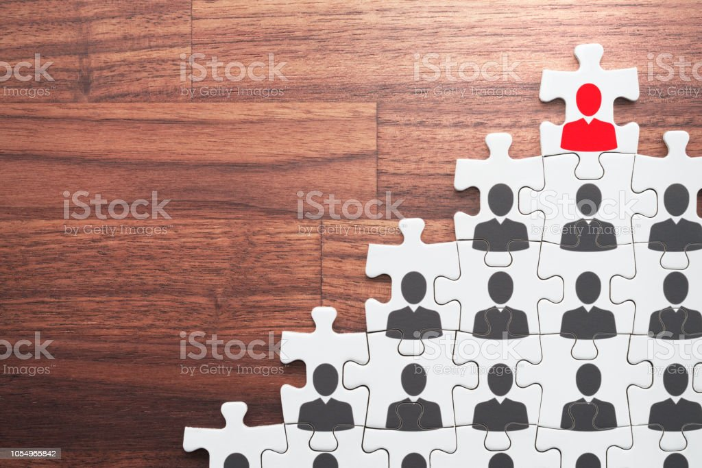 Successful leader and corporate hierarchy. stock photo