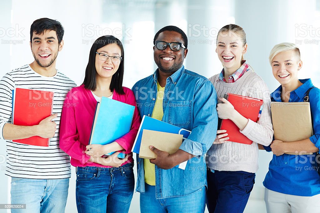 Successful learners stock photo