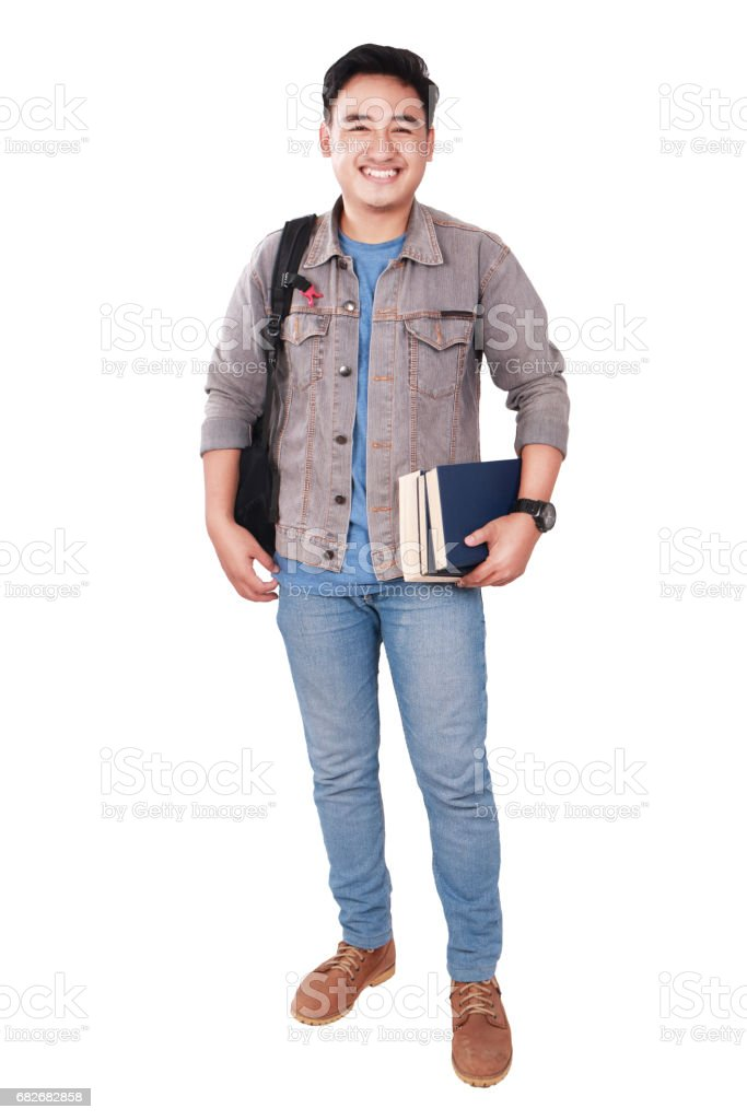 Successful Male Asian Student stock photo