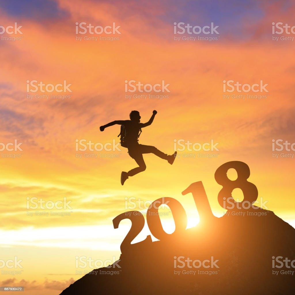 erfolgreicher Mann im Jahr 2018 – Foto