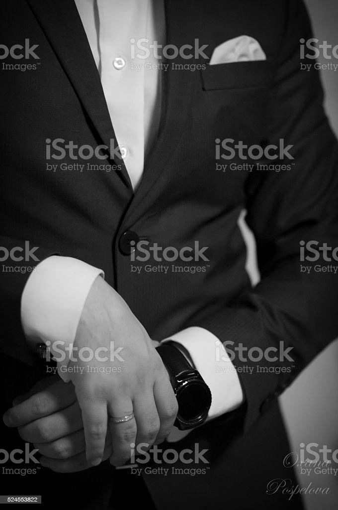 successful man, male business attire, accessories stock photo