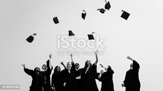 istock Successful Masters PHD Graduation College Concept 619054046