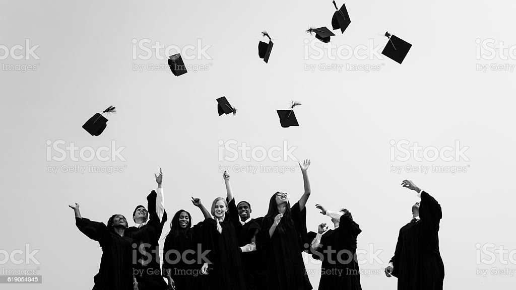 Successful Masters PHD Graduation College Concept stock photo