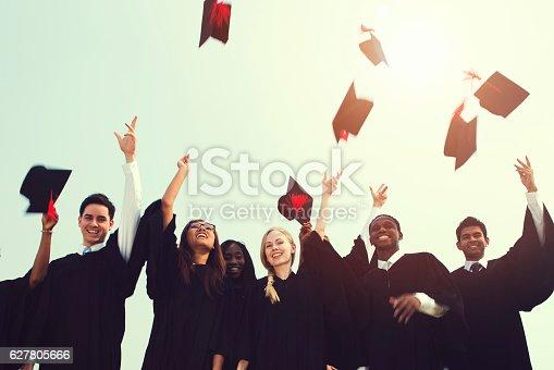 istock Successful Masters PHD Graduation College Concept 627805666
