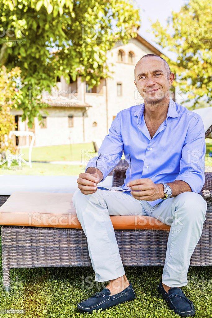 Successful Mature Man, Italian Entrepreneur royalty-free stock photo
