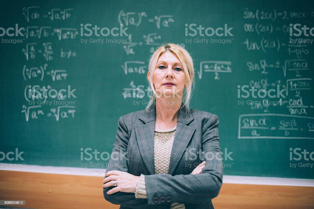 Mature professor