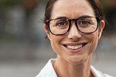istock Successful mature woman wearing eyeglasses 1180925154