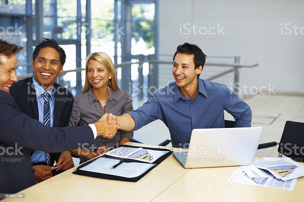 Successful negotiation royalty-free stock photo