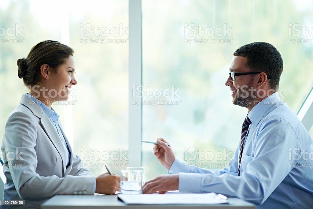 Successful negotiation stock photo
