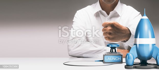 istock Successful new product or service launch 1054252350