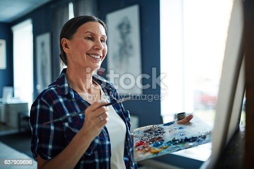 istock Successful painter 637909696
