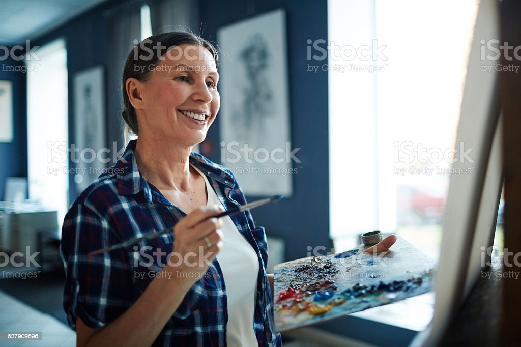 Successful painter stock photo