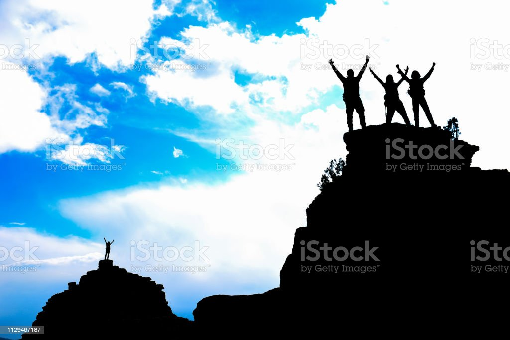successful people as team stock photo