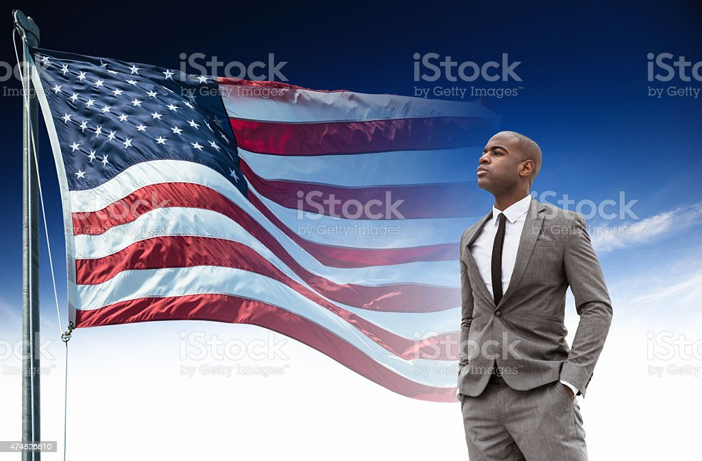 Successful politician for the US election stock photo