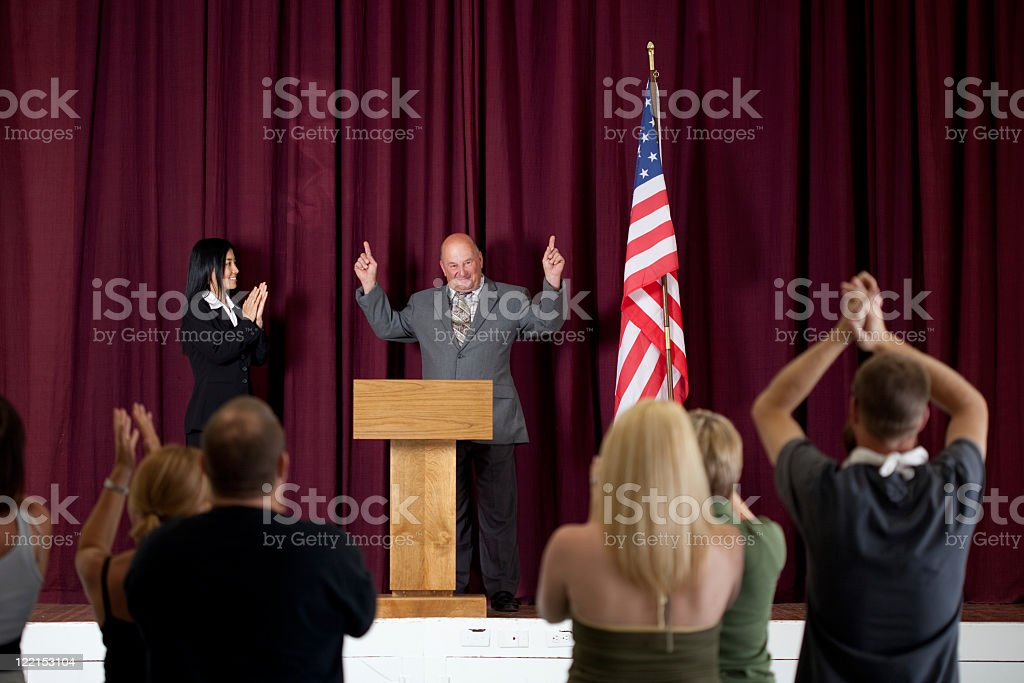 Successful politician royalty-free stock photo