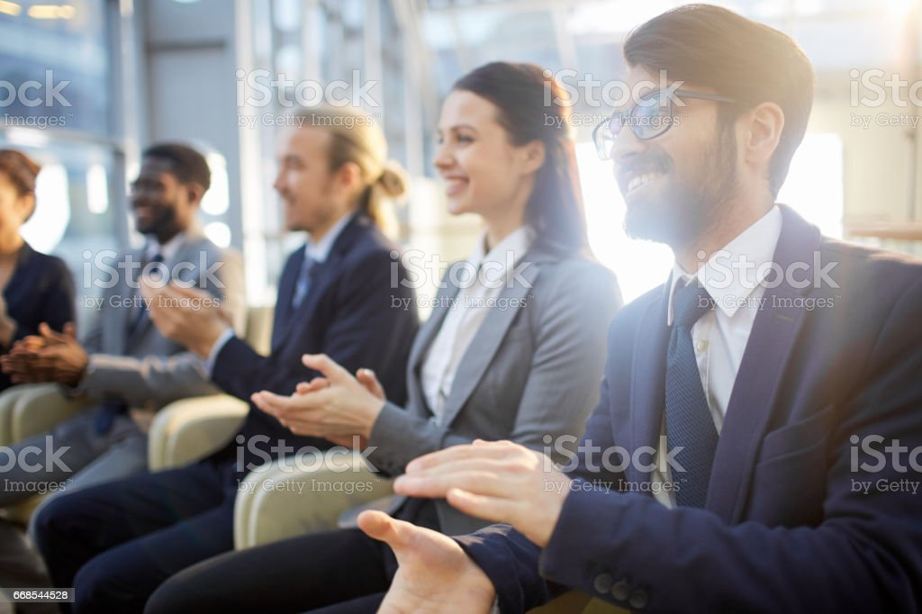 Successful presentation stock photo