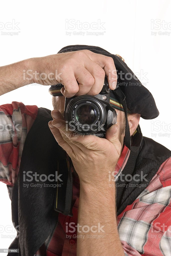 Successful Press photographer royalty-free stock photo