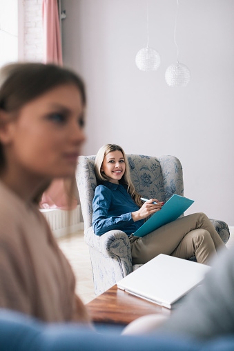 Successful Psychologist Woman Is A Professional Stock Photo - Download Image Now