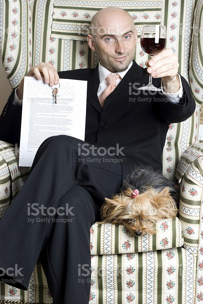 Successful realtor royalty-free stock photo