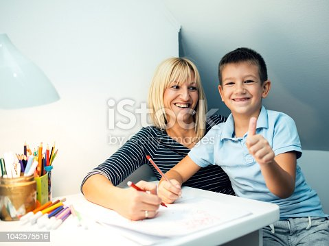 istock Successful schoolboy 1042575516