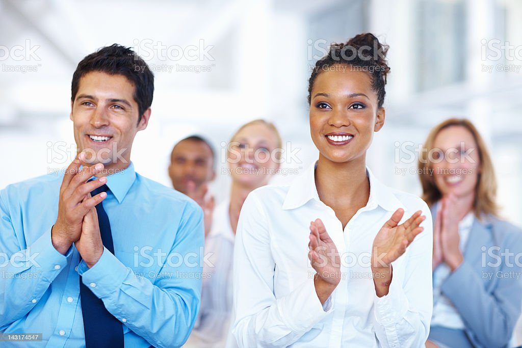 Successful seminar stock photo