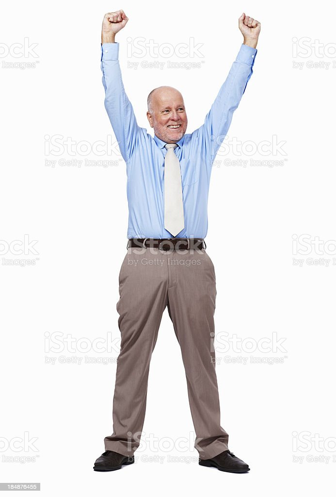 Successful senior business man royalty-free stock photo