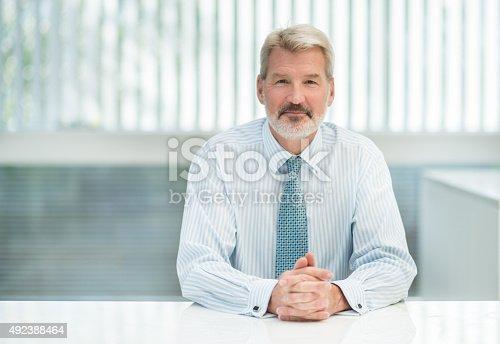 istock Successful senior business man 492388464