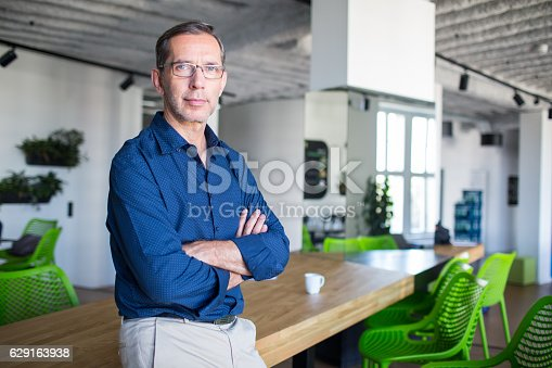 istock Successful senior businessman standing in office 629163938