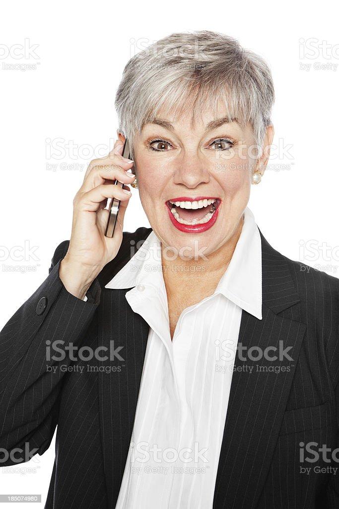 Successful Senior Businesswoman On Phone Call royalty-free stock photo